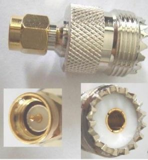 uhf female so239 pl259 to sma male straight adapter time
