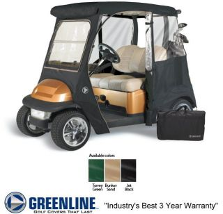 Custom Drivable 2 Person Golf Cart Enclosure Cover for Club Cars