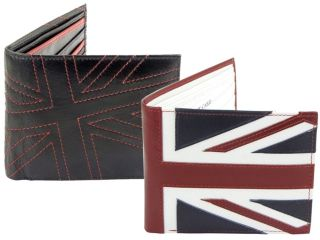 Mens Quality Leather Union Jack Mod Retro Wallet with Coin Pocket