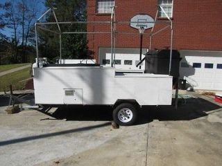 Large BBQ Smoker Trailer Gas Grill  Catering, Fair Vending, Contests