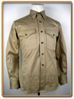 ww2 us marine corps summer service khaki shirt xl from