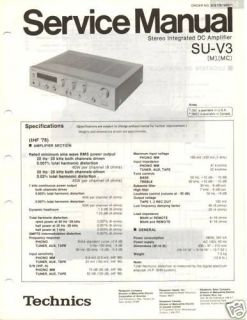 original technics service manual su v3 int amp time left
