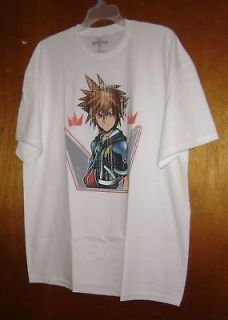 DISNEYS KINGDOM HEARTS SORA CROWN T SHIRT M MEDIUM NEW NEED A HAIRCUT
