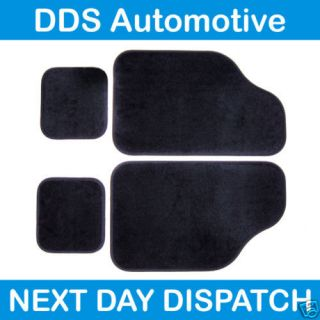 black car floor mat set for mercedes a c cl clk e class time left $ 14
