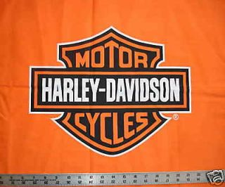 Newly listed Orange Shield Logo HARLEY DAVIDSON Quilt Fabric fq