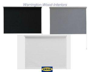 IKEA TUPPLUR BLACK OUT BLIND   GREY WHITE & BLACK   3 LARGE WIDTHS