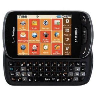 Verizon Samsung Brightside SCH U380 Black 3G CDMA QWERTY Cell Phone