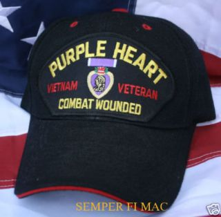 purple heart vietnam veteran hat us army air force wow