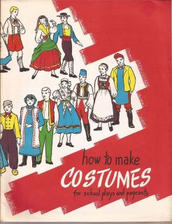 1946 vintage pattern booklet how to make costumes time left