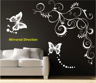 large vines butterfly flower vinyl wall art stickers many more
