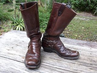 1970s vintage dandino harness motorcycle cowboy boots 8d