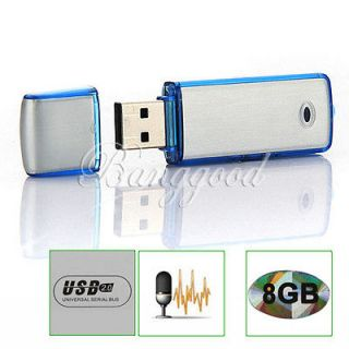 New 2in1 SPY 8GB Digital Audio Voice Recorder Pen USB Flash Memory
