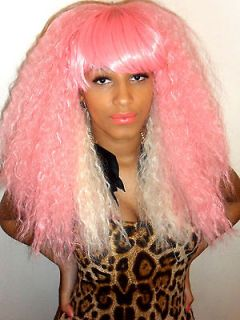 Super big blonde curly afro voluminous heat resistant safe Nicki Minaj