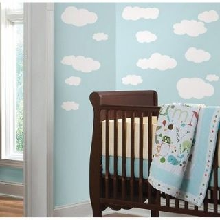 19 New WHITE CLOUDS WALL DECALS Baby Nursery Sky Stickers Kids Room