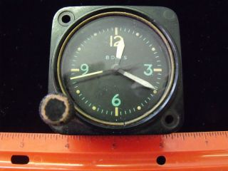 ESTATE VINTAGE ANTIQUE AMERICAN WALTHAM 8 DAY MILITARY CLOCK AIR CRAFT