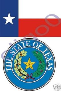 texas state flag seal 2x bumper stickers decals usa from