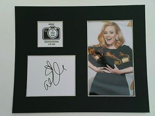 Limited Edition Adele Signed Mount Display MUSIC AUTOGRAPH SOMEONE
