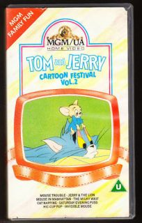 TOM & JERRY   CARTOON FESTIVAL   VOL 2   VHS PAL (UK) VIDEO