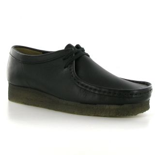 clarks wallabee black leather womens shoes more options shoe size