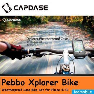 Capdase Xplorer Pebbo Weather Waterproof Case Bike Mount for Apple