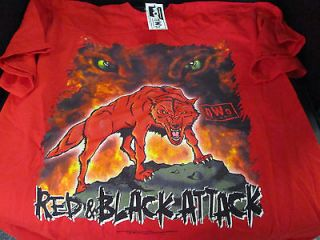 Newly listed VINTAGE WCW XL Shirt NEW with tags NWO RED AND BLACK
