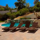 3PC Outdoor All Weather Resin Wicker Chaise Pool Lounge Chairs Patio