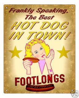 diner hot dog stand sign deli weiner vintage plaque time