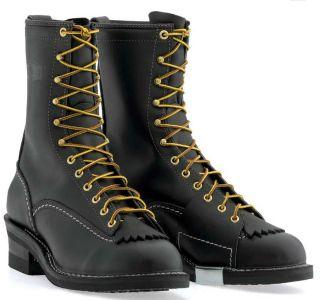 Wesco HIGHLINER Mens Stock Boots Black STYLE 9710   430 Vibram Sole