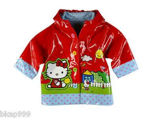 NWT Western Chief Kid Hello Kitty Scenic Waterproof Red Rain Coat