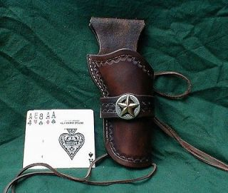 brown western cowboy holster sass cas fast draw 5 1