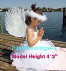 costume white feather angel wings pointing up or down Swan Fairy props