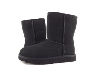 Childrens Shoes   UGG AUSTRALIA   KIDS CLASSIC SHORT BOOTS BLACK