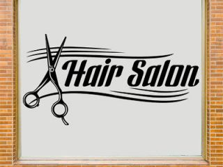 Hair Salon Shop Window Decal Wall Art Sticker  HS1  Free Applicator