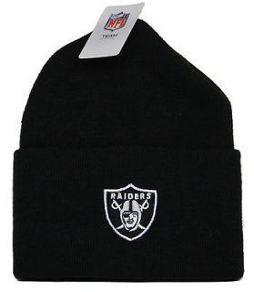 9667d0304ce ... By RBK NFL Oakland Raiders Football (Black) Cuffed Knit Beanie Hat Cap  ...