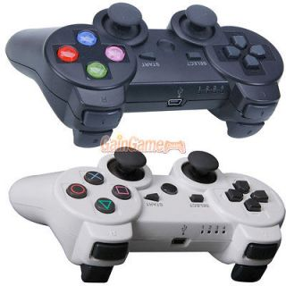 wireless bluetooth controller for sony ps3 white black color key