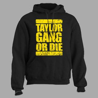 taylor gang or die hoodie wiz khalifa rap hip hop large