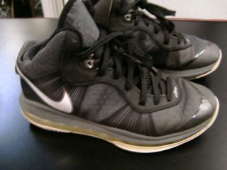 NIKE AIR LEBRON JAMES FLYWIRE BASKETBALL SHOES SIZE 7Y SILVER 2010