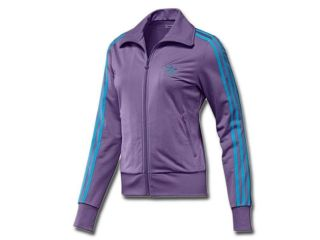 adidas originals women s firebird track jacket violet