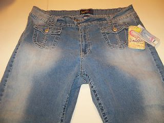 angels stretch cuffed crop jeans junior plus sz 26 nwt