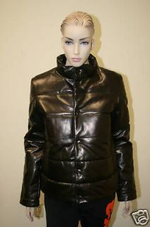 YOHJI YAMAMOTO Adidas Women Puff Leather Jacket S