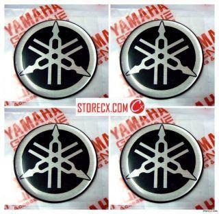 4cmx4 Genuine YAMAHA 3D Gel logo emblem Tank decal sticker tuning fork