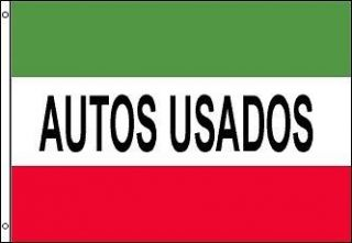 Autos Usados Flag Used Cars Automotive Advertising Banner Business