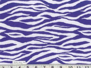 Black, Brown, Purple, Pink ZEBRA Animal Print Fabric BTY Quilting