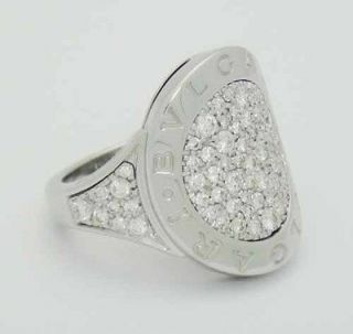 bvlgari bulgari 18k white gold diamond round ring make offers