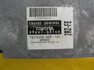 01 tacoma 2001 engine computer ecm ecu 8966104760 one day