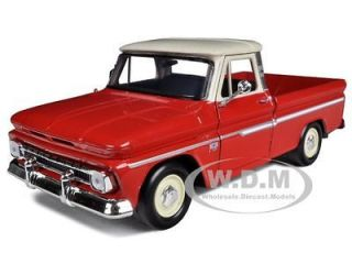 1966 chevrolet c10 fleetside pickup truck red cream 1 24