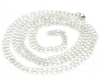 100 Sterling Silver Oval Open Link Chain Necklace Over 8 Feet Long