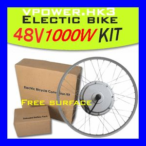 48V 1000W 26 Front Wheel Electric Bicycle Motor Kit E Bike Cycling