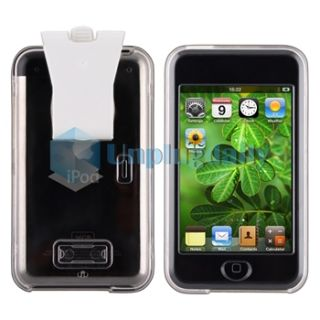 Clear Crystal Clip on Hard Case Cover Screen Protector for iPod Touch