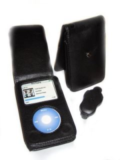 iPod Classic 80 120 160GB Leather Flip Case Cover Black
